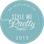 As featured on Style me pretty 2015