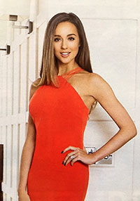 OK! Magazine shoot - makeup and hair by Sarah for Emily Andre with Peter Andre