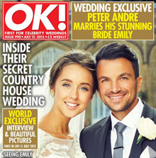 Sarah is the makeup artist for the celebrity wedding of Peter Andre & Emily MacDonagh